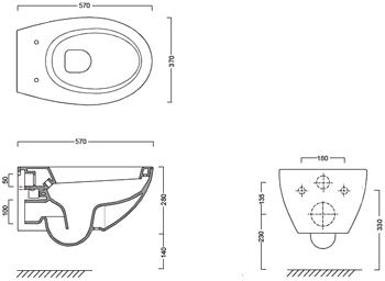Схема подключения унитаза catalano velis 57wc sospeso 1VSVL00