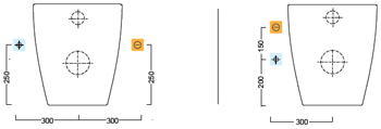 Схема подключения унитаза Catalano VELIS 57WC